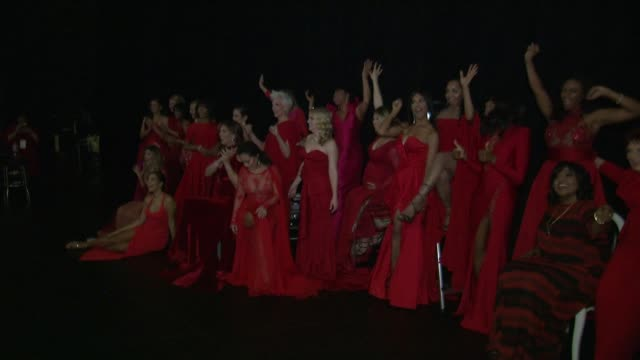 backstage at the american heart association's go red for women red dress collection 2018 presented by macy's at hammerstein ballroom on february 08,... - ginger zee stock videos & royalty-free footage