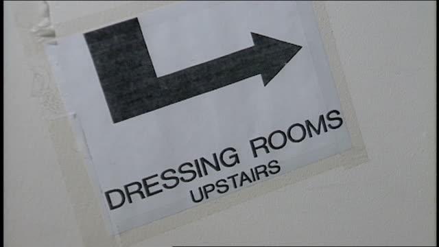 vidéos et rushes de backstage directions signs in nyc - indication de direction