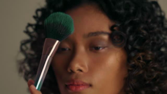backstage : make-up artist applies makeup - blusher stock videos & royalty-free footage