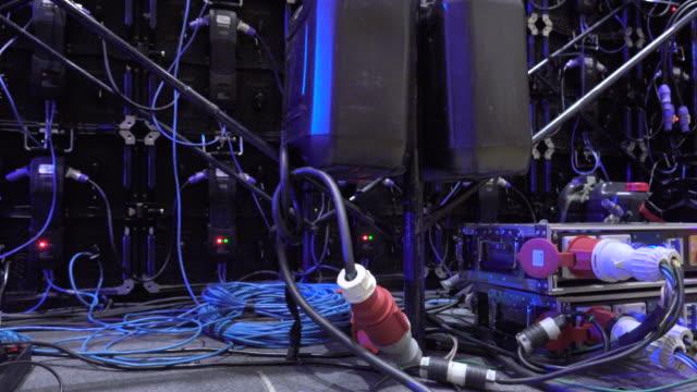 backstage des bildschirmmonitors - live ereignis stock-videos und b-roll-filmmaterial