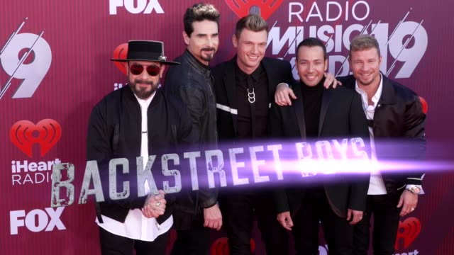 Backstreet Boys at the 2019 iHeartRadio Music Awards at Microsoft Theater on March 14 2019 in Los Angeles California