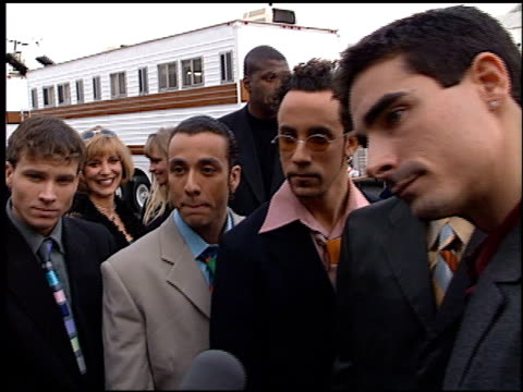 backstreet boys at the american music awards 1998 at the shrine auditorium in los angeles, california on january 26, 1998. - 1998 stock-videos und b-roll-filmmaterial