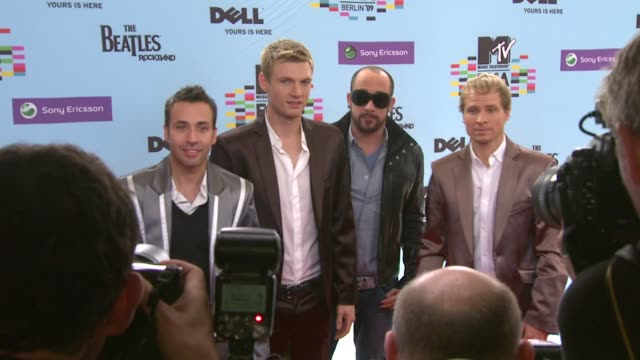 backstreet boys at the mtv european music awards at berlin - backstreet boys stock videos & royalty-free footage