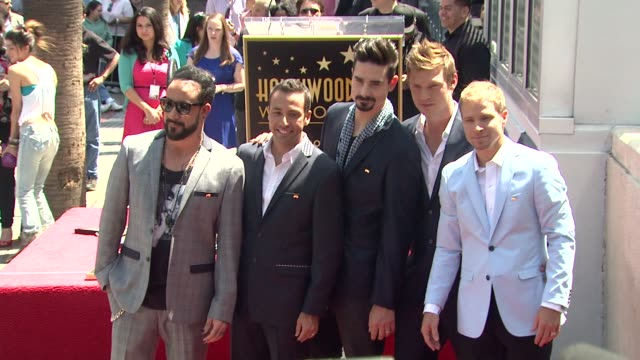 clean backstreet boys celebrate 20 year career with star on the hollywood walk of fame event capsule clean backstreet boys celebrate 20 at hollywood... - backstreet boys stock videos & royalty-free footage