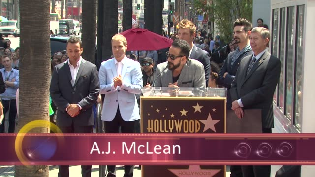 chyron backstreet boys celebrate 20 year career with star on the hollywood walk of fame event capsule chyron backstreet boys celebrate 2 at hollywood... - backstreet boys stock videos & royalty-free footage