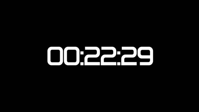 backward counting sequence. from 30 to 0 seconds. countdown timer with digital numbers on black. - stop watch stock videos & royalty-free footage