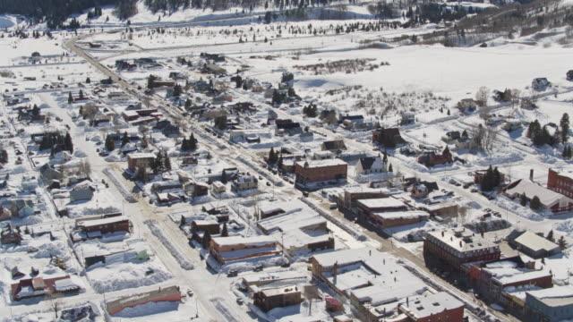 backwards drone shot of silverton, colorado - non urban scene stock videos & royalty-free footage