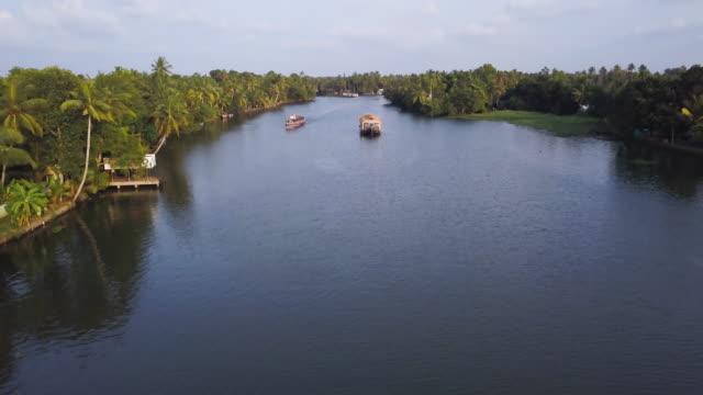 backwaters , kerala, india - backwater stock videos & royalty-free footage