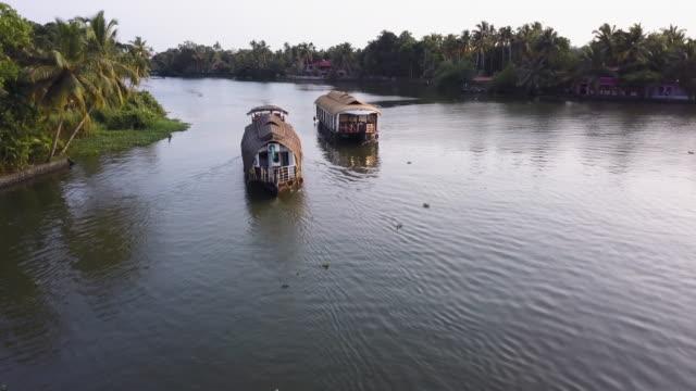 backwaters , kerala, india - 逆水点の映像素材/bロール