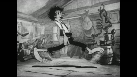 vidéos et rushes de a backwoodsman dances - péquenaud
