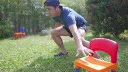 Backyard cardio workout.