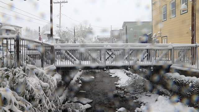 bad freak weather - cappotto invernale video stock e b–roll