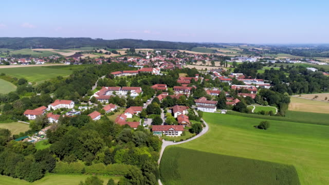 bad griesbach spa area in bavaria - germany video stock e b–roll