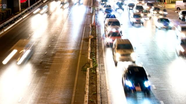 アーバンニグシティの悪い交通渋滞 - 線路のポイント点の映像素材/bロール