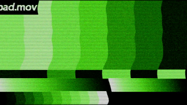 stockvideo's en b-roll-footage met slechte transmissie - analog