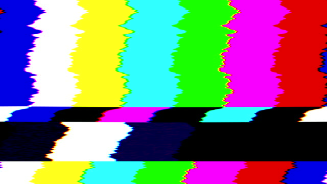 bad tv signal color bars. 4k - colour image stock videos & royalty-free footage