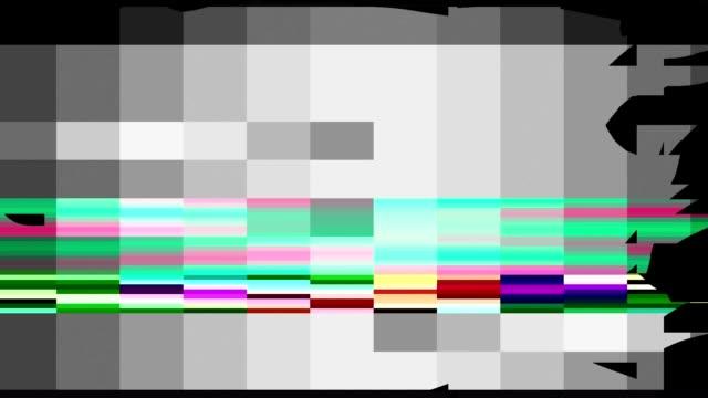 Bad TV Signal Damage Digital Distortion Error Glitch