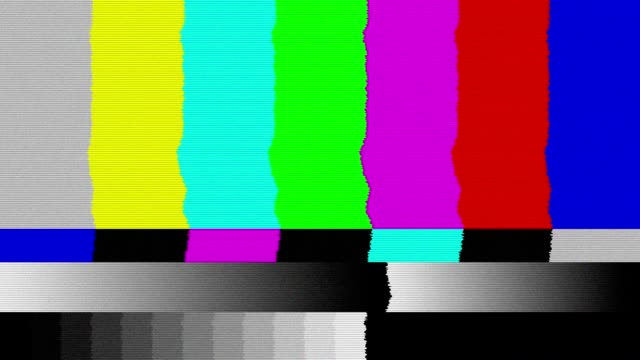 bad tv signal on the tv screen. - distorted stock videos & royalty-free footage
