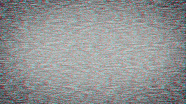 Bad TV signal on the TV screen