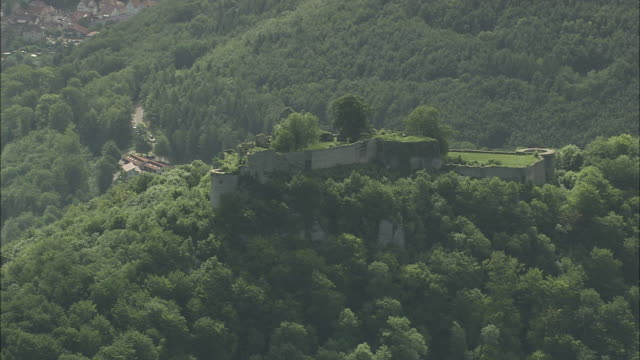 bad urach and ruined castle and ruined castle - baden wurttemberg stock videos and b-roll footage