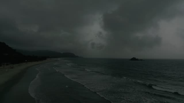 bad weather on beach - seascape stock videos & royalty-free footage