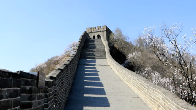 badaling great wall, beijing - 万里の長城点の映像素材/bロール