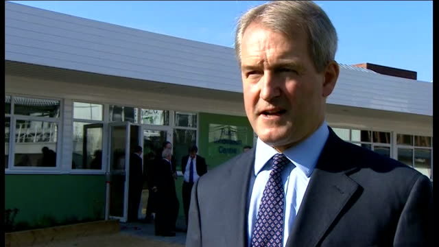 owen paterson interview england stratforduponavon ext owen paterson mp interview sot - owen paterson stock videos and b-roll footage