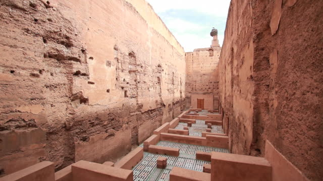 badii palace, marrakesh, marocco - souk stock videos & royalty-free footage