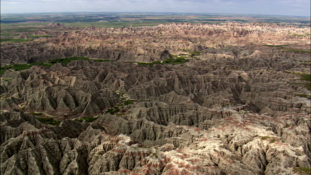 badlands in south dakota - badlands stock videos & royalty-free footage