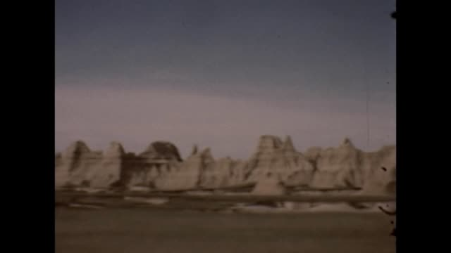 1947 badlands national monument - badlands national park video stock e b–roll