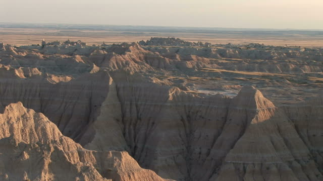 badlands national park in south dakota united states - badlands national park stock videos & royalty-free footage