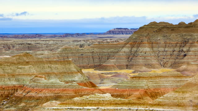 badlands national park, south dakota - rock formation stock videos & royalty-free footage
