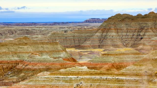 vídeos de stock e filmes b-roll de badlands national park, south dakota - parque nacional de badlands