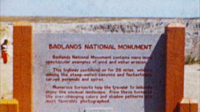 Badlands Park, South Dakota (archivierten 50er Jahre