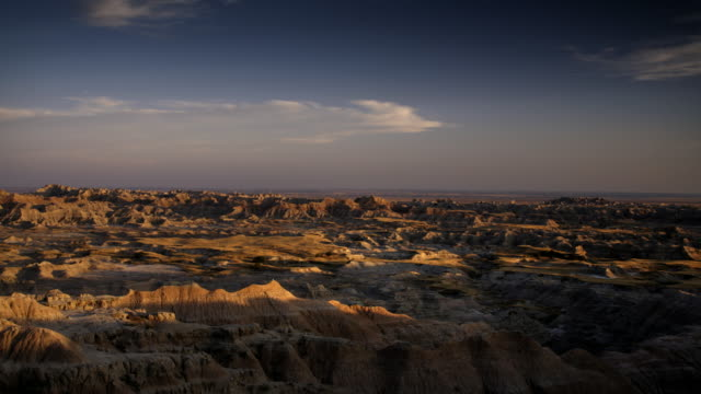 badlands scenic - badlands national park stock videos & royalty-free footage