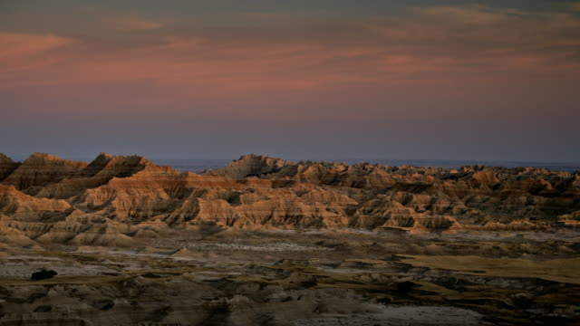 badlands scenic - badlands national park video stock e b–roll