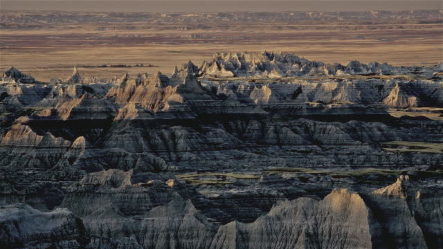 t/l ws badlands, south dakota, usa - badlands stock videos & royalty-free footage