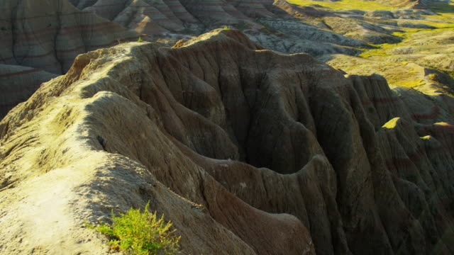 Badlands view of arid desert mountain scenery USA