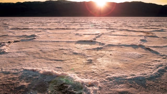 badwater basin in death valley, california - lake bed stock videos & royalty-free footage