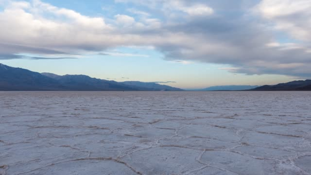 badwater basin salt flats - bonneville salt flats stock videos and b-roll footage