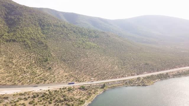 bafa lake drone view - kultur des nahen osten stock-videos und b-roll-filmmaterial