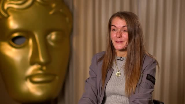 bafta has named its breakthrough brits for 2019, 20 of the uk's most promising future films of film, games and television. vicky knight, who survived... - インタビュー素材点の映像素材/bロール