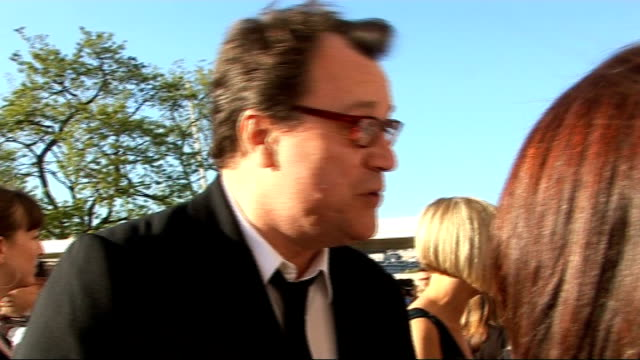 red carpet arrivals gvs of russell t davies / davies talking to other crew sot davies interview sot on doctor who and how long it can last / on... - doctor who stock videos & royalty-free footage