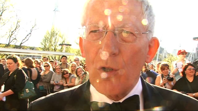 red carpet arrivals hewer interview sot on his role how much it's grown / on sir alan sugar what he's like really in the boardroom davina mccall... - alan sugar stock videos and b-roll footage