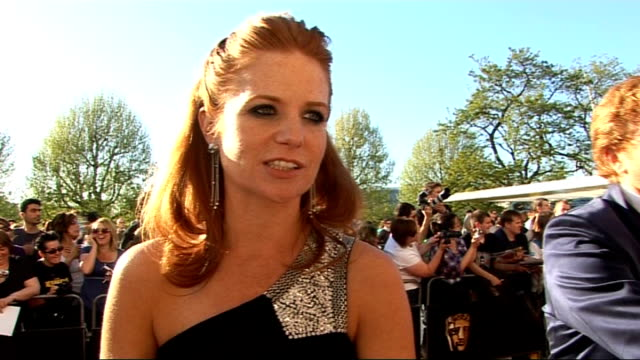 red carpet arrivals; palmer interview sot - on clothes - she doesn't know who she is wearing / on loving being back in eastenders / on being a... - eastenders stock-videos und b-roll-filmmaterial