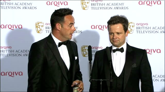stockvideo's en b-roll-footage met winners press conference part 2 ant and dec press conference sot - ant mcpartlin