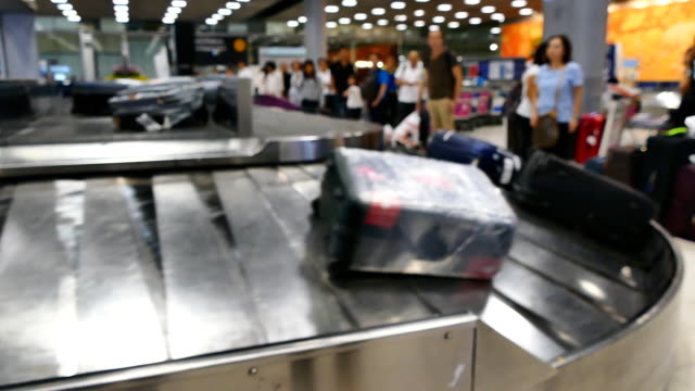 bag conveyor in airport terminal