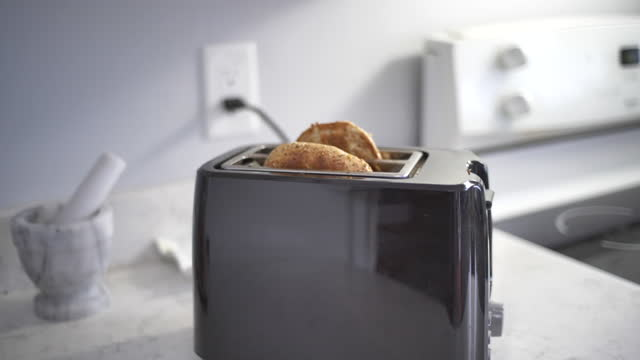 bagel in toaster - cheese stock videos & royalty-free footage