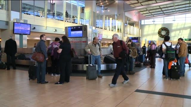 Baggage Claim at San Diego International Airport on December 12 2013 in San Diego California