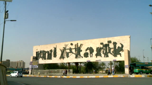 baghdad freedom monument 2012 - baghdad stock videos & royalty-free footage